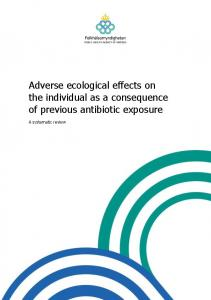 Adverse ecological effects on the individual as a consequence of previous antibiotic exposure. A systematic review
