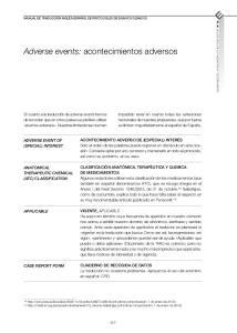 Adverse events: acontecimientos adversos