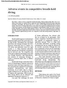 Adverse events in competitive breath-hold diving