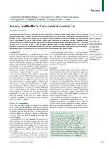 Adverse health effects of non-medical cannabis use