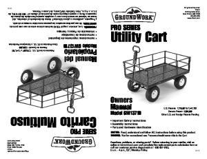 ADVERTENCIA: No usar para fines recreativos. Las personas nunca deben montarse en el carrito