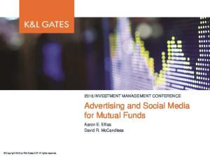 Advertising and Social Media for Mutual Funds