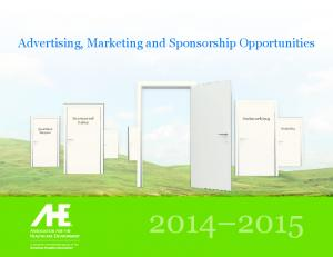 Advertising, Marketing and Sponsorship Opportunities