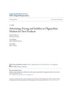 Advertising, Pricing and Stability in Oligopolistic Markets for New Products