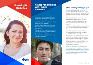 ADVICE FOR SMOKERS WITH TYPE 1 DIABETES