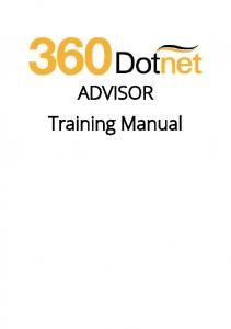 ADVISOR Training Manual