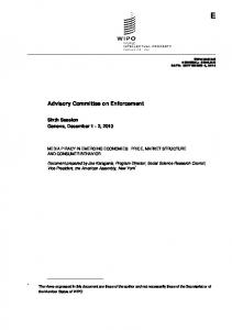 Advisory Committee on Enforcement