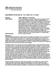 ADVISORY OPINION OF THE CODE OF ETHICS