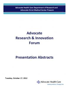 Advocate Research & Innovation Forum