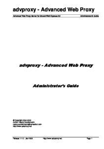 advproxy - Advanced Web Proxy