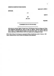 A.E. -and- FINLAND SUBMISSIONS FOR THE INTERVENORS