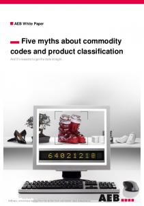 AEB White Paper Five myths about commodity codes and product classification