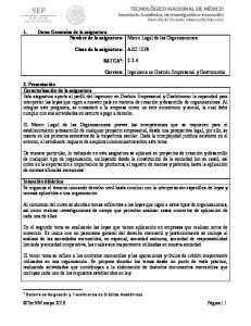 AEC SATCA 1 : Carrera: