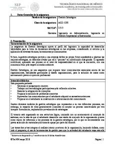 AED SATCA 1 : Carrera: