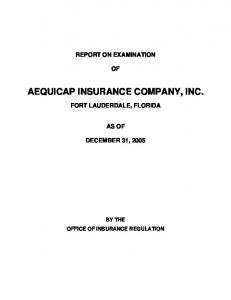 AEQUICAP INSURANCE COMPANY, INC