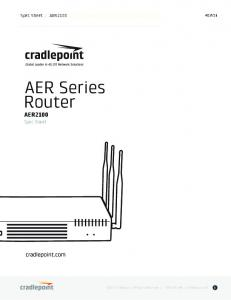 AER Series Router AER2100