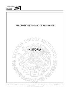 AEROPUERTOS Y SERVICIOS AUXILIARES HISTORIA