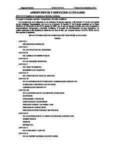 AEROPUERTOS Y SERVICIOS AUXILIARES