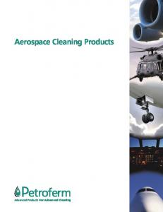 Aerospace Cleaning Products