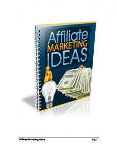 Affiliate Marketing Ideas Page 1