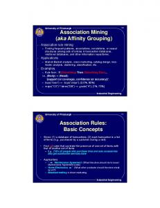 Affinity Grouping) Association Rules: Basic Concepts