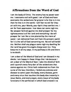 Affirmations from the Word of God