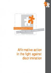 Affirmative action in the fight against discrimination