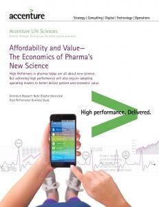 Affordability and Value The Economics of Pharma s New Science