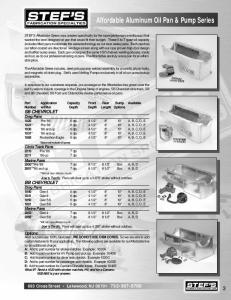 Affordable Aluminum Oil Pan & Pump Series