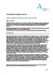 AFFORDABLE HOUSING FOR ALL