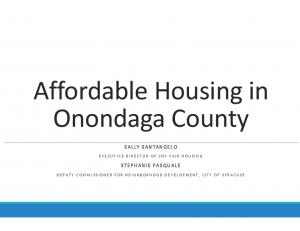 Affordable Housing in Onondaga County