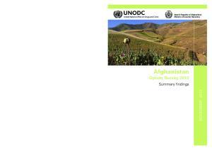 Afghanistan Opium Survey 2013