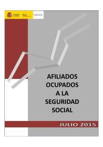 AFILIADOS OCUPADOS A LA SEGURIDAD SOCIAL