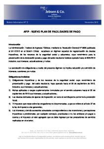 AFIP - NUEVO PLAN DE FACILIDADES DE PAGO