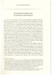 Afirmando las diferencias. El feminismo de Nietzsche