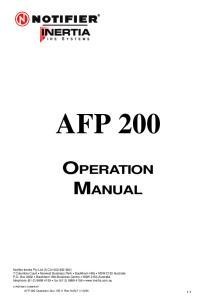 AFP 200 OPERATION MANUAL