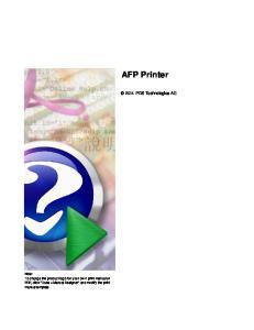 AFP Printer IPDS Technologies AG