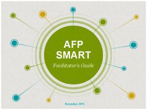 AFP SMART. Facilitator s Guide