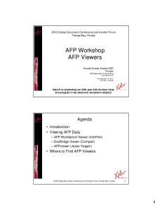 AFP Workshop AFP Viewers