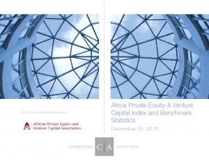 Africa Private Equity & Venture Capital Index and Benchmark Statistics