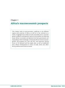Africa s macroeconomic prospects