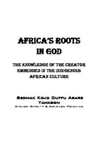 AFRICA S ROOTS IN GOD