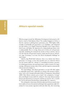 Africa s special needs