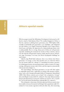 Africa s special needs