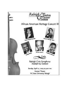 African American Heritage Concert 1II
