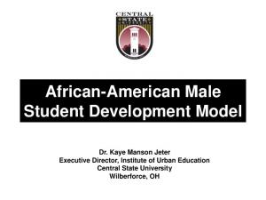 African-American Male Student Development Model
