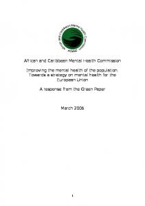 African and Caribbean Mental Health Commission
