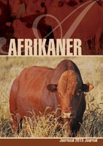 AFRIKANER Afrikaner j o u r n a l 1