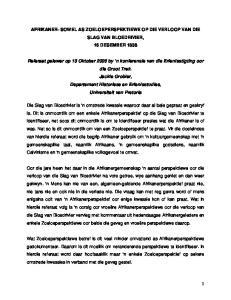 AFRIKANER- SOWEL AS ZOELOEPERSPEKTIEWE OP DIE VERLOOP VAN DIE SLAG VAN BLOEDRIVIER, 16 DESEMBER 1838