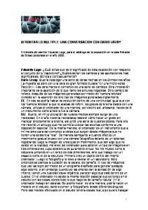 AFRONTAR LO MULTIPLE: UNA CONVERSACION CON DARIO URZAY